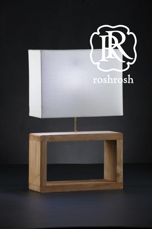 Dubai Teak Table Lamp Roshrosh